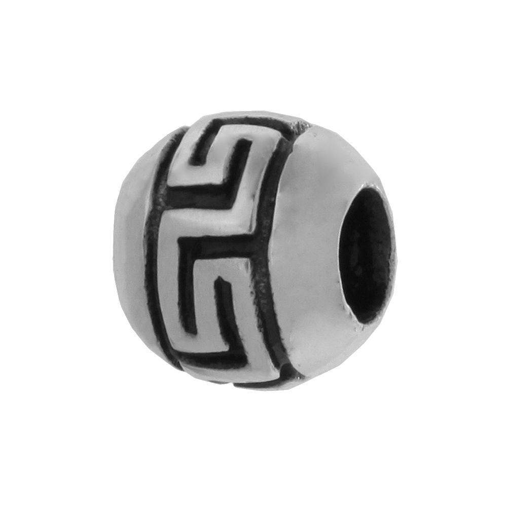 Individuality Beads Sterling Silver Greek Key Bead