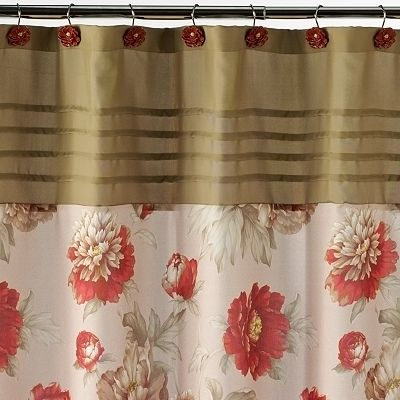 Croft and Barrow Emily Floral Fabric Shower Curtain