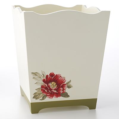 Croft and Barrow Emily Floral Wastebasket
