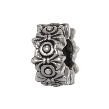 Individuality Beads Sterling Silver Fleur-de-Lis Spacer Bead