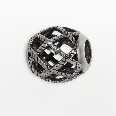 Individuality Beads Sterling Silver Basket-Weave Bead