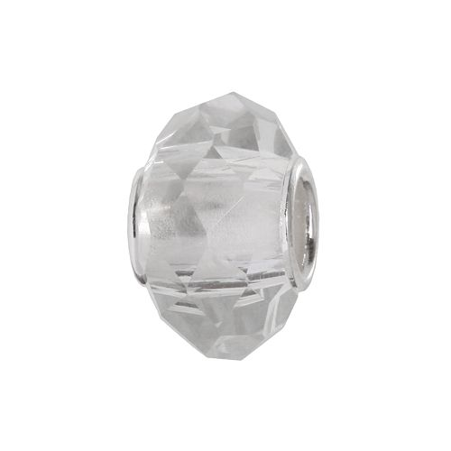 Individuality Beads Sterling Silver Multifaceted Glass Bead