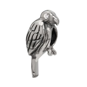 Individuality Beads Sterling Silver Crystal Parrot Bead