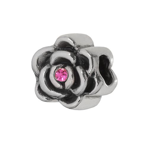 Individuality Beads Sterling Silver Crystal Floral Bead