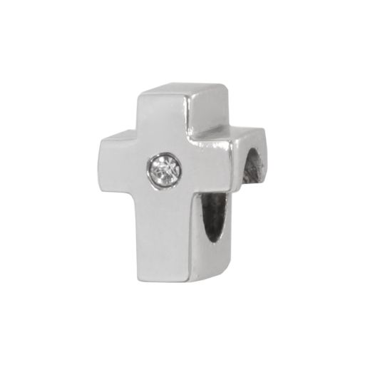 Individuality Beads Sterling Silver Crystal Cross Bead