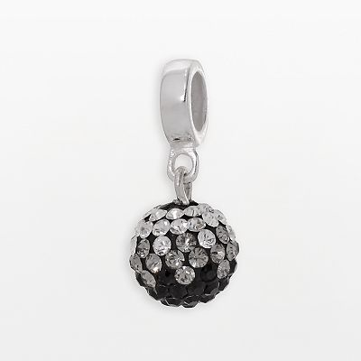 Individuality Beads Sterling Silver Crystal Ball Charm