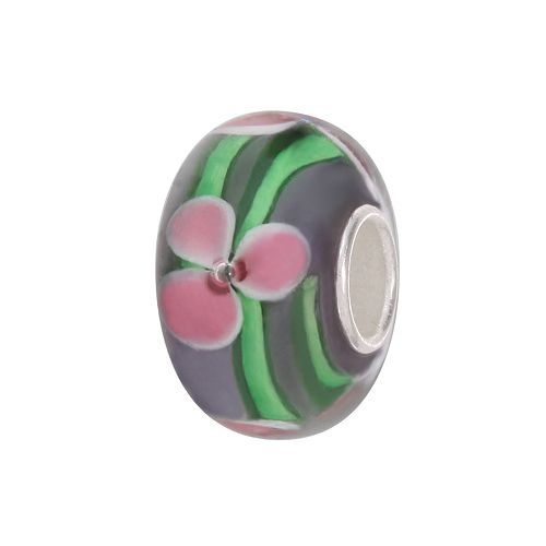 Individuality Beads Sterling Silver Flower Glass Bead