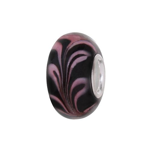 Individuality Beads Sterling Silver Feather Glass Bead
