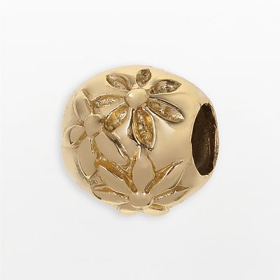 Individuality Beads 24k Gold-Over-Silver Floral Bead