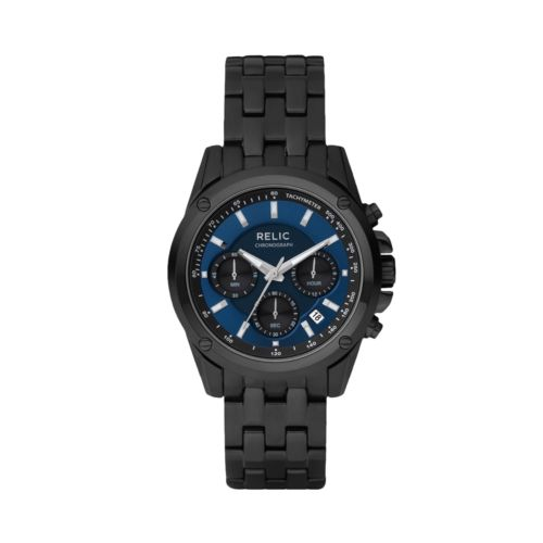 Relic Stainless Steel Black Ion Watch - Men