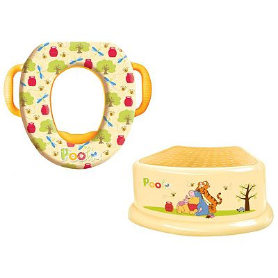 Disney Winnie the Pooh Saddle Potty and Step Stool Set