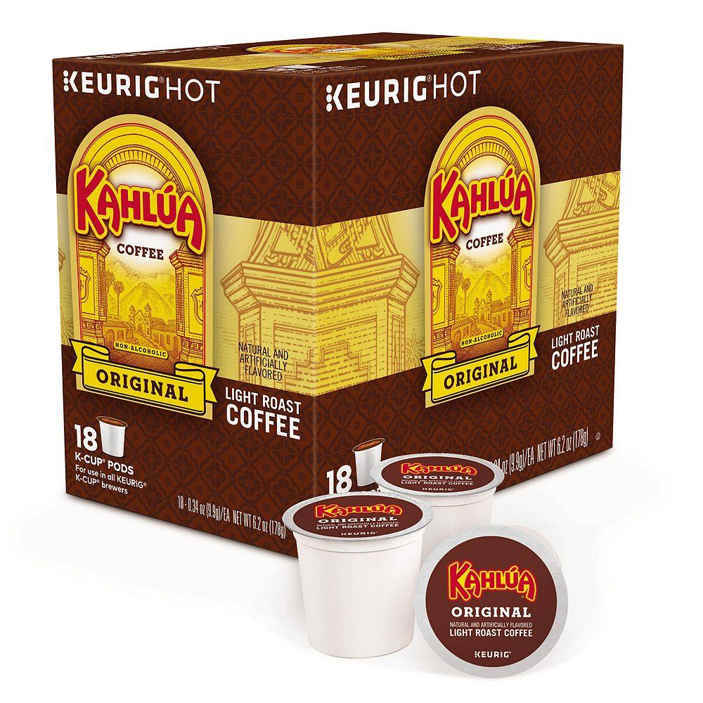 Timothy's Kahlua Coffee, Keurig® K-Cup® Pods, Light Roast - 18-pk.