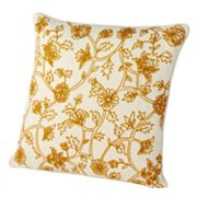 Chaps Home Chandler Floral Crewelwork Decorative Pillow