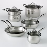 Food Network 11-pc. Stainless Steel Cookware Set