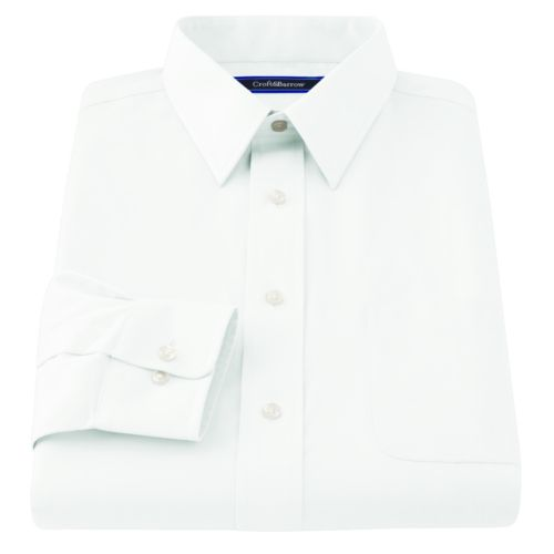 Croft & Barrow® Classic-Fit Solid Broadcloth Point-Collar Dress Shirt