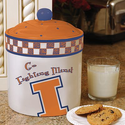 Memory Company Illinois Fighting Illini Gameday Ceramic Cookie Jar