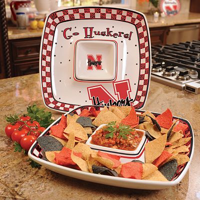 Memory Company Nebraska Cornhuskers Gameday Chip 'n' Dip Tray