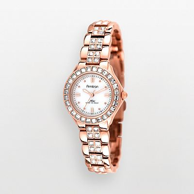Armitron NOW Rose Gold Tone Crystal and Mother-of-Pearl Watch - 75/3689MPRG - Women