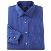 Chaps Classic-Fit Patterned Spread-Collar Dress Shirt