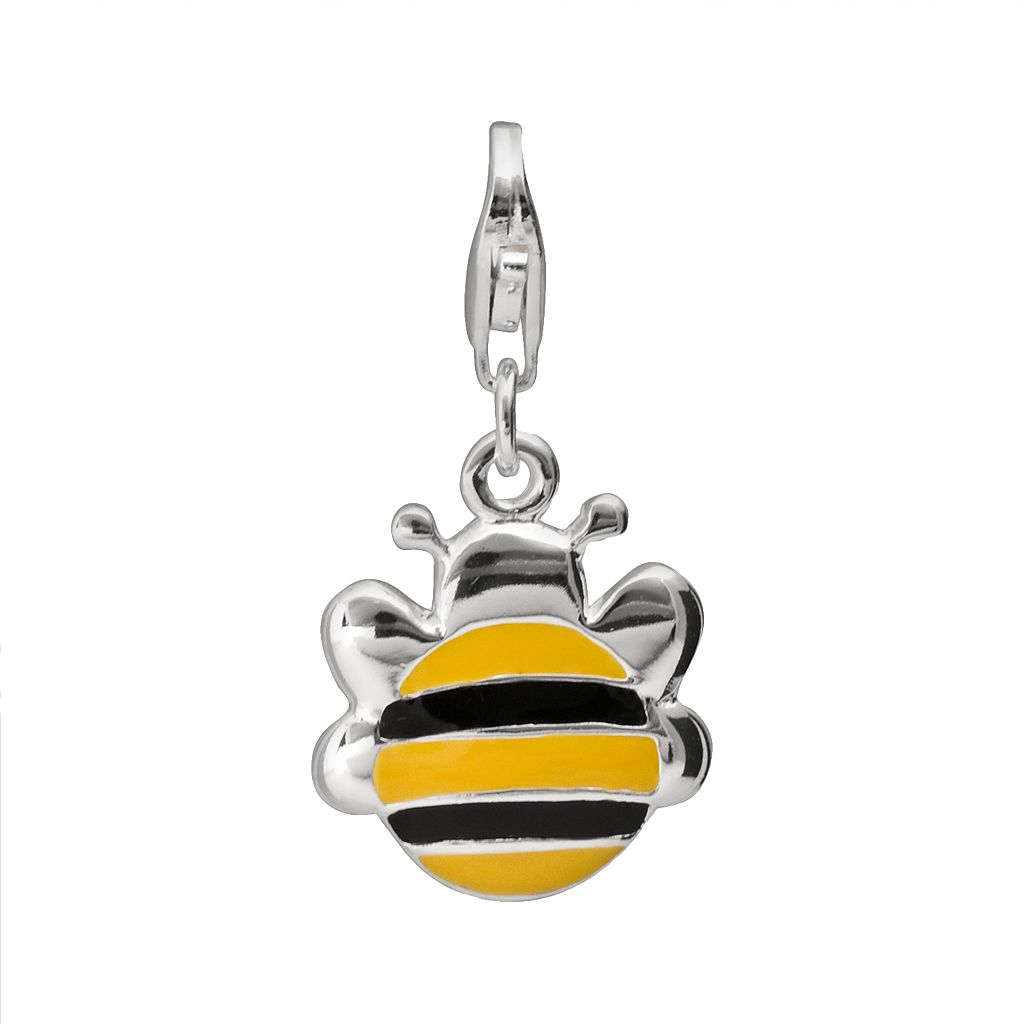Personal Charm Sterling Silver Bee Charm