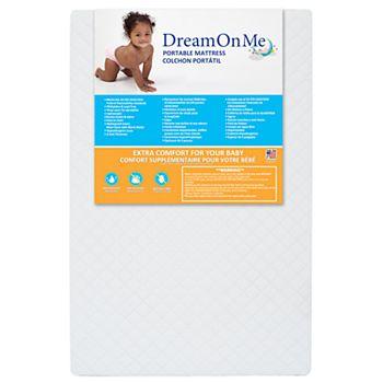 """Baby Toddler Dream On Me 24 Mini//Portable Crib Mattress 38/"""" x 24/"""" x 3/"""" White"""