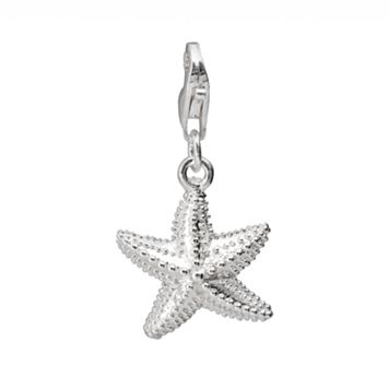 Personal Charm Sterling Silver Studded Starfish Charm