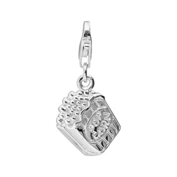 Personal Charm Sterling Silver Popcorn Charm