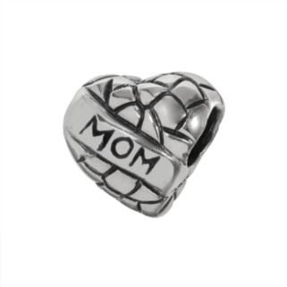Individuality Beads Sterling Silver Mom Heart Bead