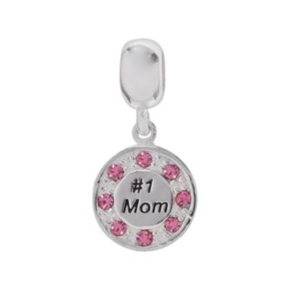 Individuality Beads Sterling Silver and Crystal No. 1 Mom Charm