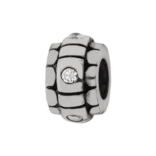 Individuality Beads Sterling Silver Cubic Zirconia Stopper Bead