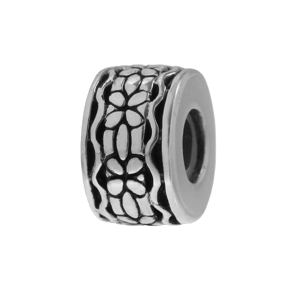 Individuality Beads Sterling Silver Floral Stopper Bead