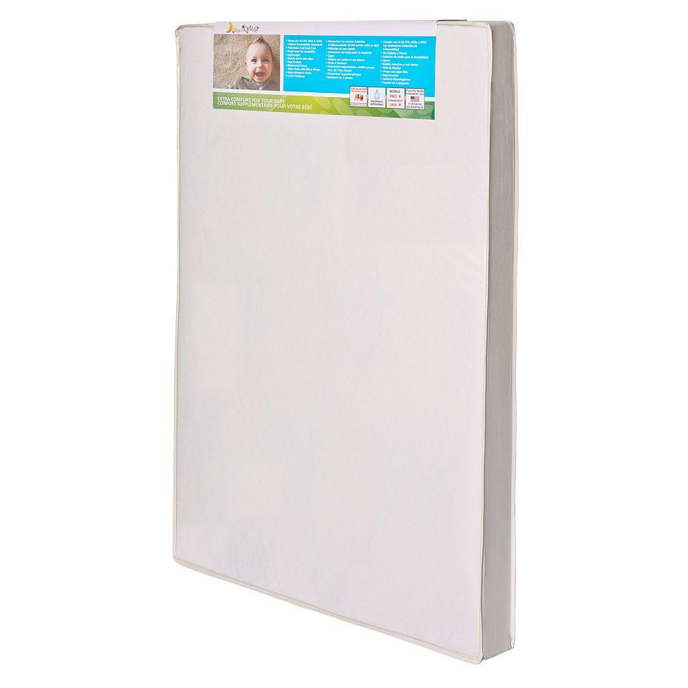 Dream On Me 3'' Extra Firm Mini/Portable Crib Mattress - White