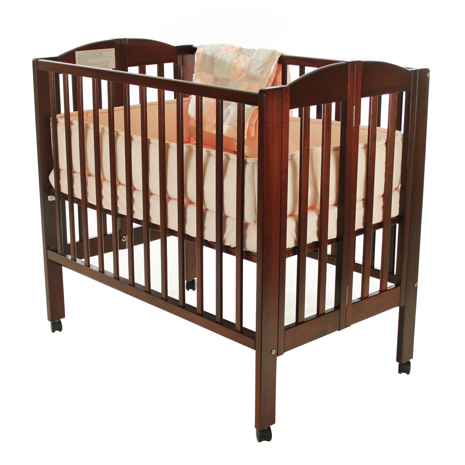 Dream On Me 2 In 1 Wood Folding Portable Crib