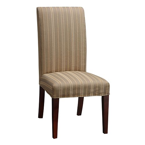 Chenille Striped Dining Chair Slipcover