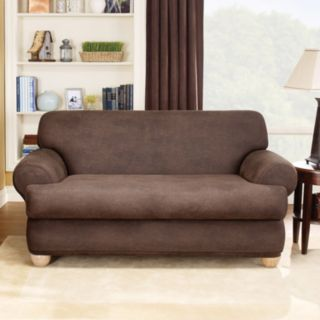 Homestyles by Sure Fit Stretch T-Cushion Loveseat Slipcover