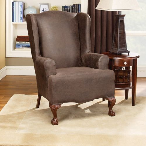 Homestyles by Sure Fit Stretch Wing Chair Slipcover