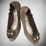 Simply Vera Vera Wang Pascali Peep-Toe Flats