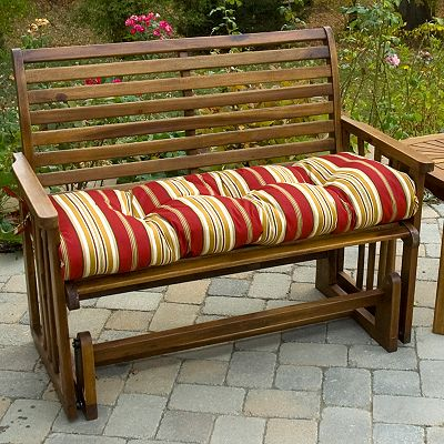 Roma Striped Porch Swing Bench Cushion