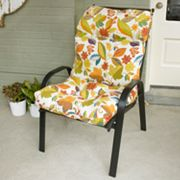 Floral Outdoor High-Back Chair Cushion