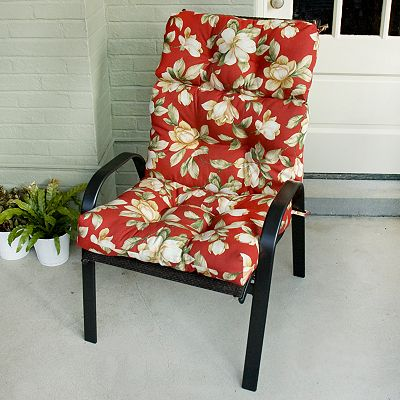 Roma Floral Outdoor High-Back Chair Cushion