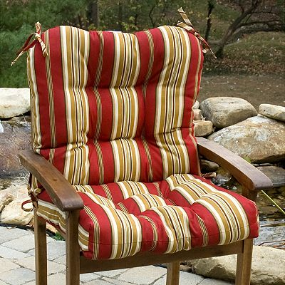 Roma Stripe Outdoor Chair Cushion