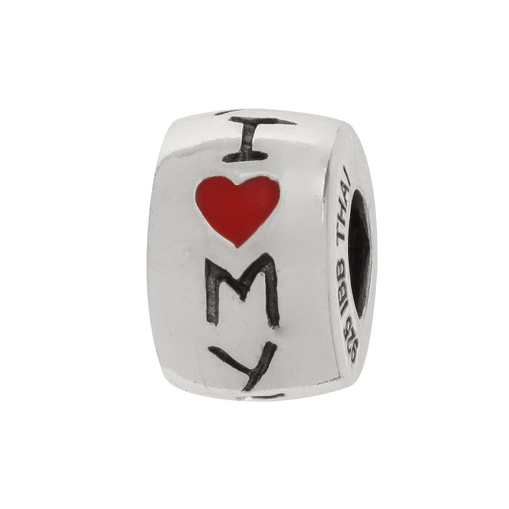 """Individuality Beads Sterling Silver """"I Love My Family"""" Bead"""