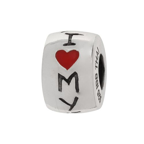 "Individuality Beads Sterling Silver ""I Love My Family"" Bead"