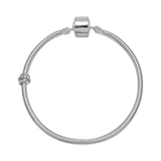 Individuality Beads Sterling Silver Snake Chain Bracelet and Stopper Bead Set
