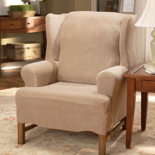 Homestyles by Sure Fit Stretch Pearson Wing Chair Slipcover