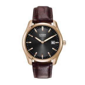 Citizen Men's Eco-Drive Leather Watch - AU1043-00E