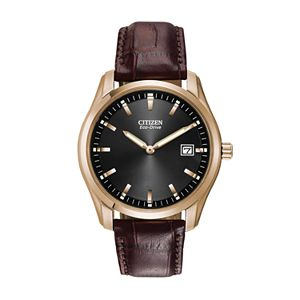 Citizen Men's Eco-Drive Leather Watch - AU1043-00E