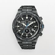 Citizen Eco-Drive Stainless Steel Black Ion Perpetual Calendar Chronograph Watch - Men
