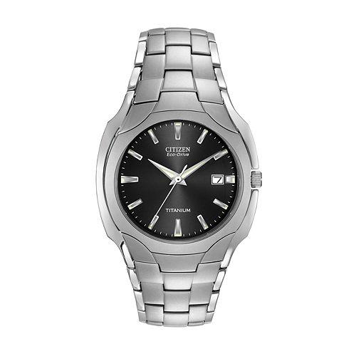 Citizen watch men 39 s eco drive titanium bm6560 54 for Watches kohls