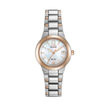 Citizen Eco-Drive Women's Silhouette Two Tone Stainless Steel Watch - EW1676-52D